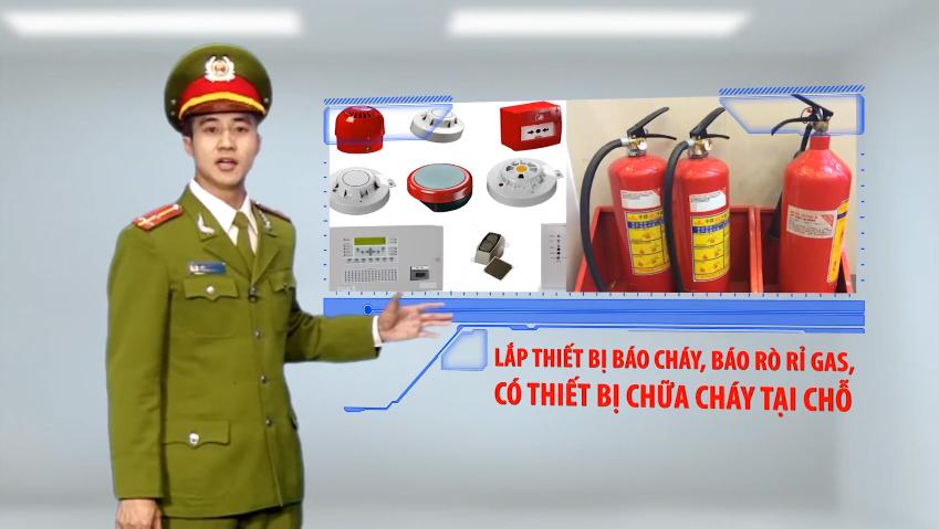 Lắp thiết bị báo cháy báo rò rỉ ga, có thiết bị chữa cháy tại chỗ