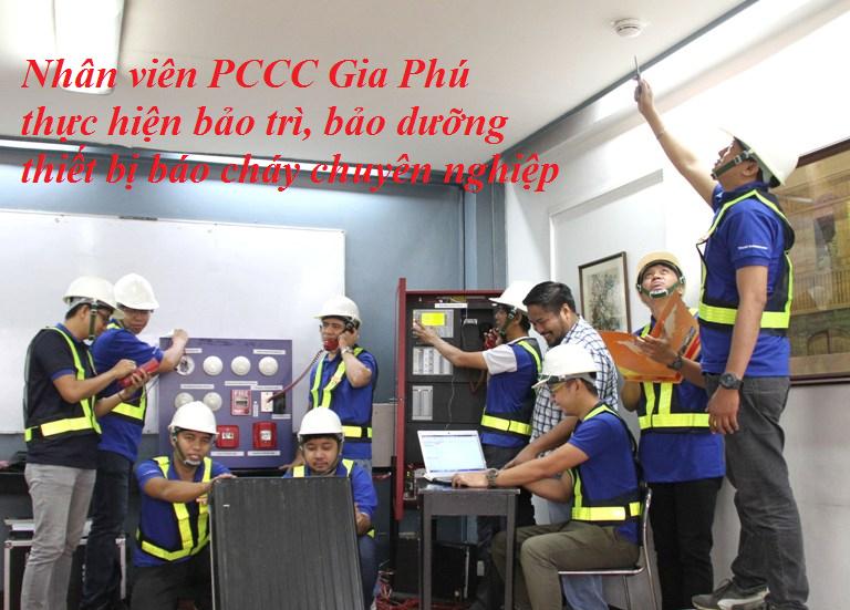 PCCC Gia Phú bảo trì thiết bị báo cháy chuyên nghiệp