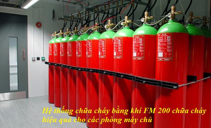 hệ thống chữa cháy FM 200 chữa cháy hiệu quả phòng