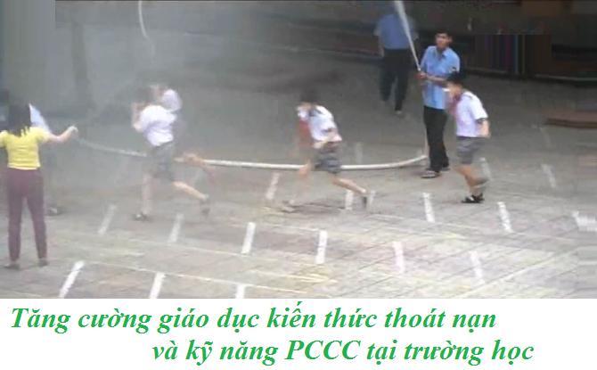 Nâng cao kiến thức PCCC và kỹ năng thoát nạn ho học sinh tại trường học