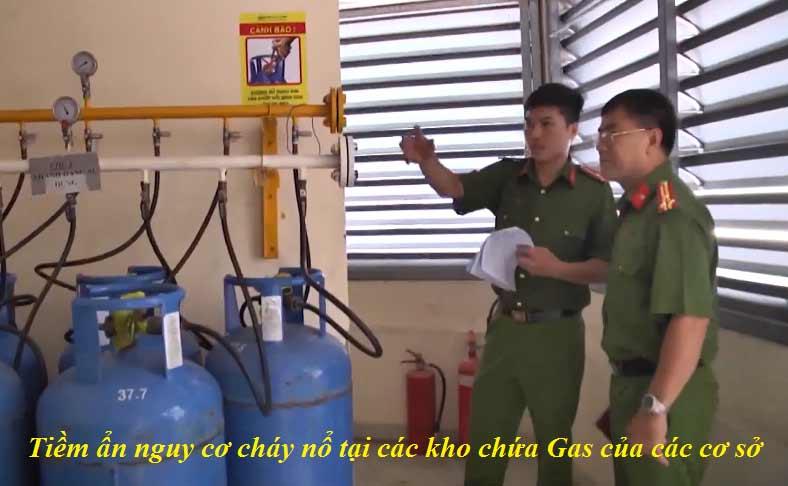 Tiềm ẩn nguy cơ cháy nổ tại các kho chứa ga của các cơ sở