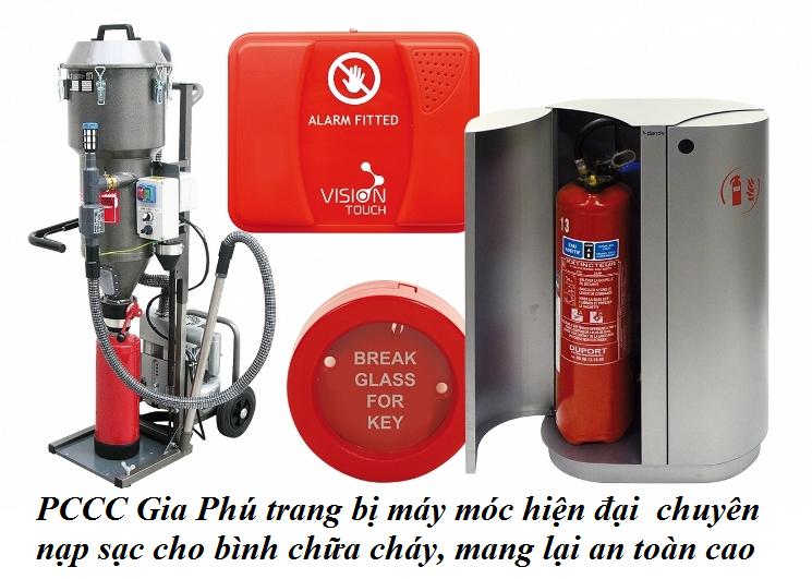 PCCC Gia Phú chuyên Nạp sạc bình chữa cháy