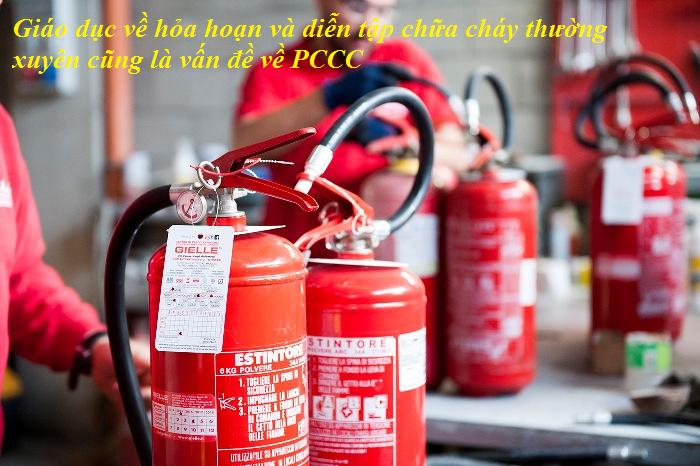 bình PCCC là thiết bị chữa cháy cơ bản